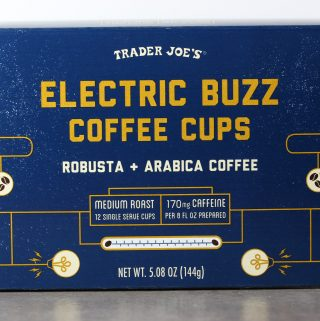 Trader Joe's Electric Buzz Coffee Cups box