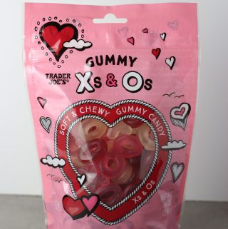 Trader Joe's Gummy Xs and Os bag