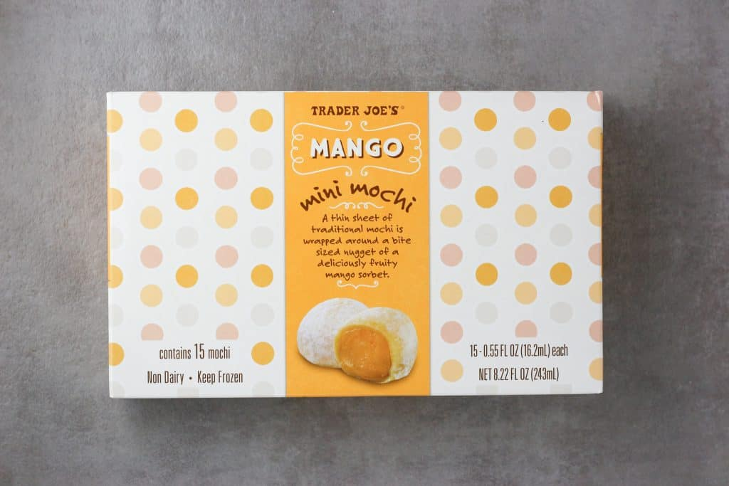 Trader Joe's Mango Mini Mochi package