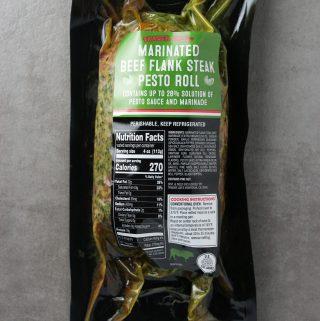 Trader Joe's Marinated Beef Flank Steak Pesto Roll