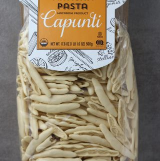 Trader Joe's Organic Italian Artisan Pasta Capunti bag