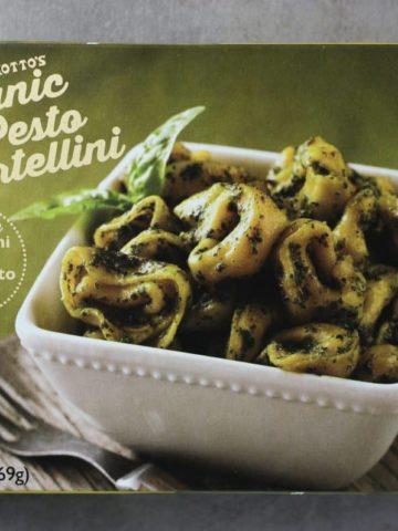 Trader Joe's Organic Pesto Tortellini box