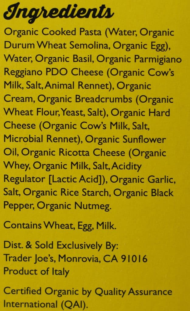 Trader Joe's Organic Pesto Tortellini review
