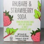 Trader Joe's Rhubarb and Strawberry Soda box