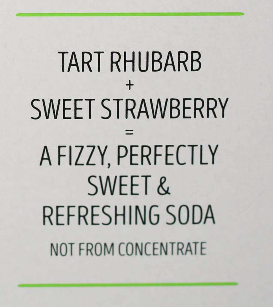 Trader Joe's Rhubarb and Strawberry Soda description