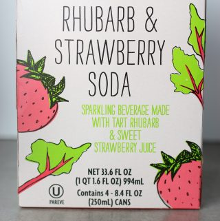 Trader Joe's Rhubarb and Strawberry Soda