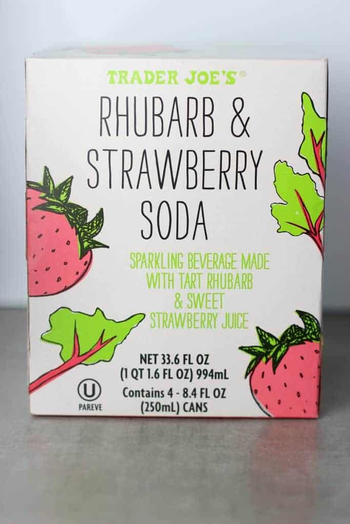 Trader Joe's Rhubarb and Strawberry Soda box