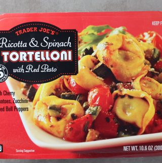 Trader Joe's Ricotta and Spinach Tortelloni with Red Pesto