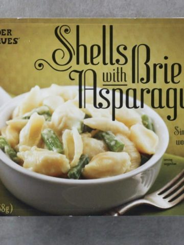 Trader Joe's Shells with Brie and Asparagus package