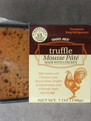 Trader Joe's Truffle Mousse Pate package as seen on shelves