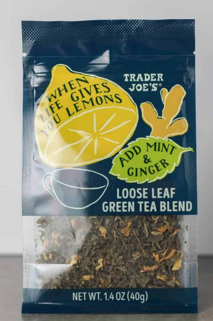 Trader Joe's When Life Gives You Lemons Loose Leaf Green Tea Blend package