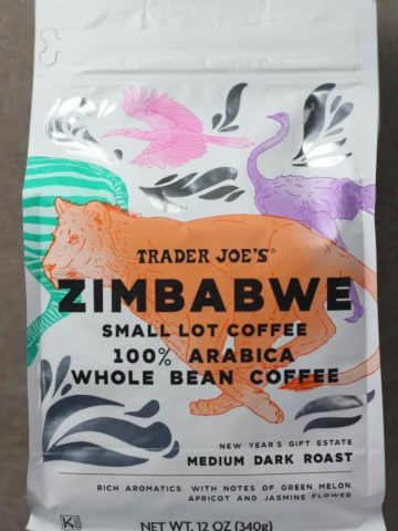 Trader Joe's Zimbabwe Small Lot Coffee bag