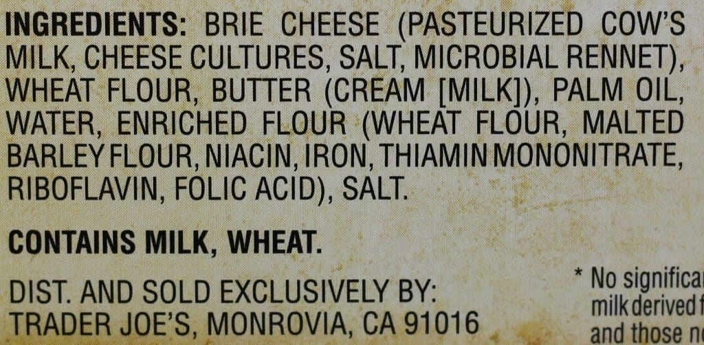 Trader Joe's Brie En Croute ingredient list
