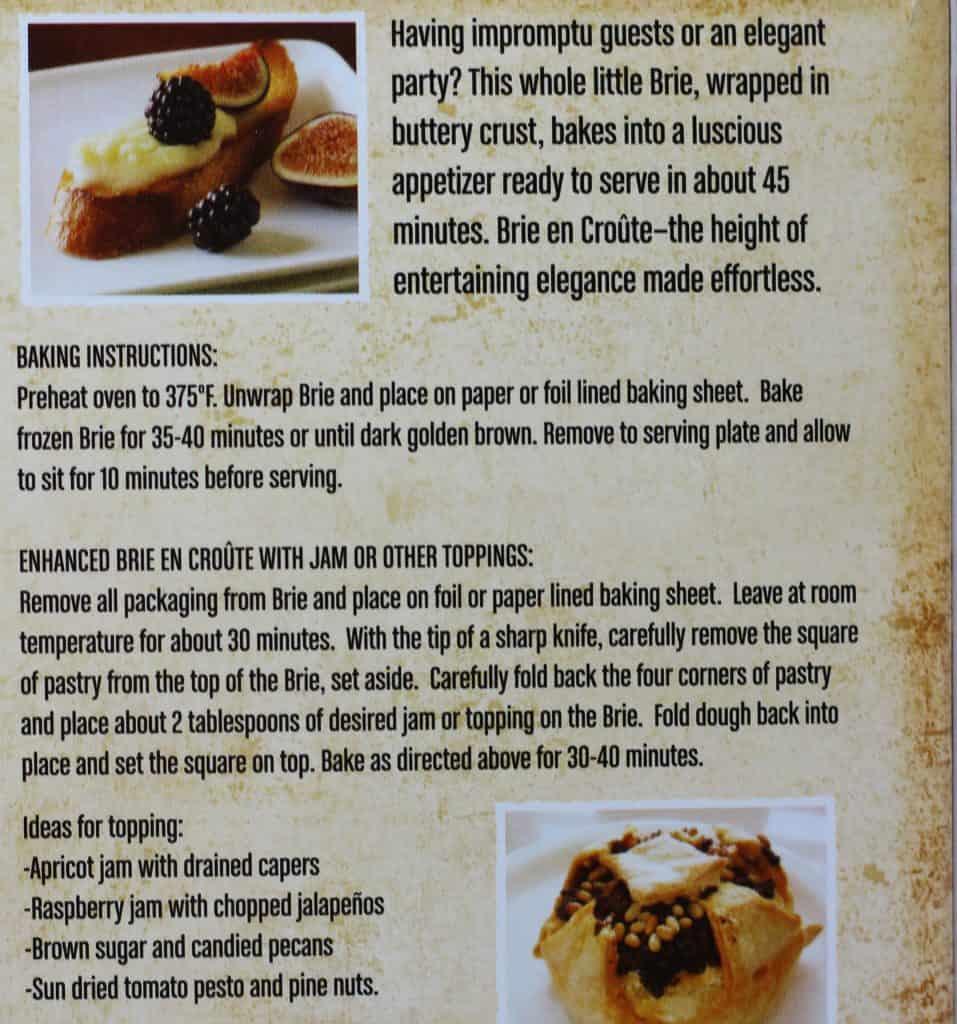 Trader Joe's Brie En Croute how to prepare