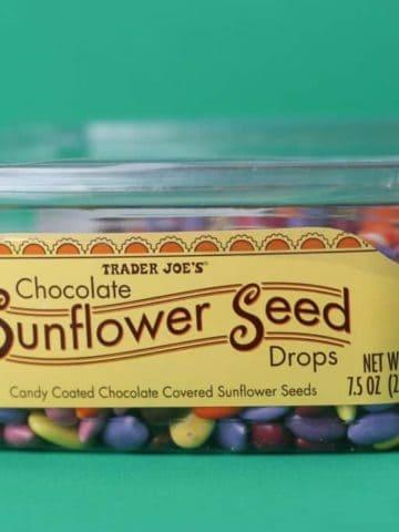 Trader Joe's Chocolate Sunflower Seed Drops package