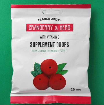 Trader Joe's Cranberry and Herb Supplement Drops bag