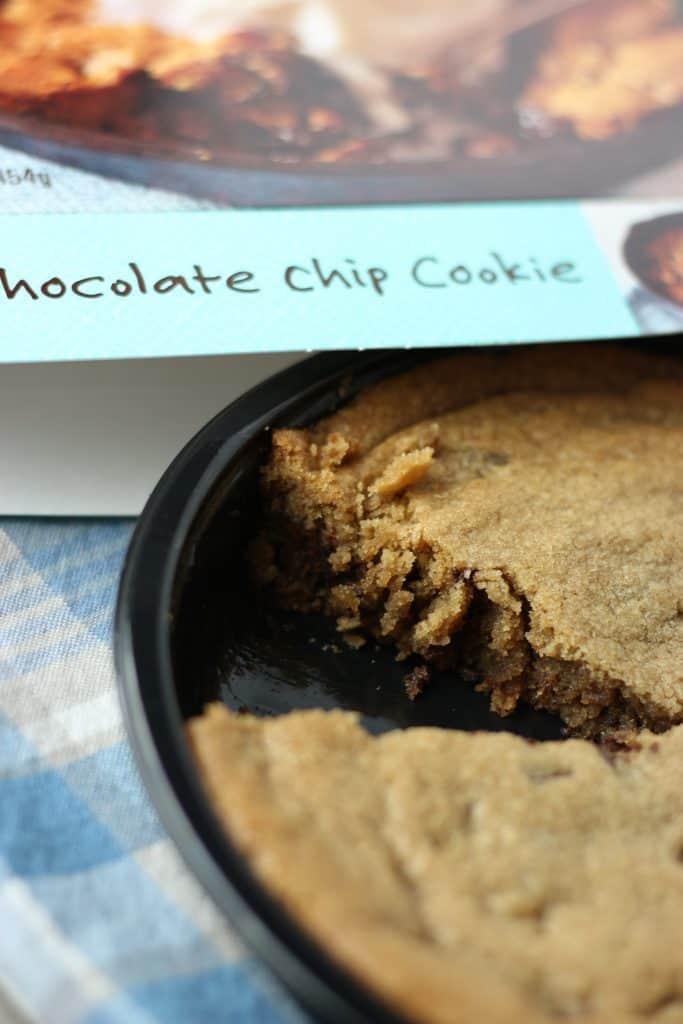 Trader Joe's Deep Dish Chocolate Chip Cookie sliced