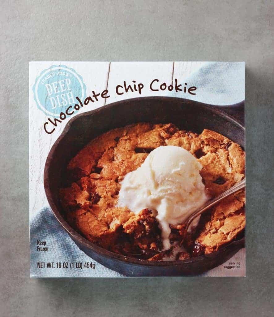 Trader Joe's Deep Dish Chocolate Chip Cookie box