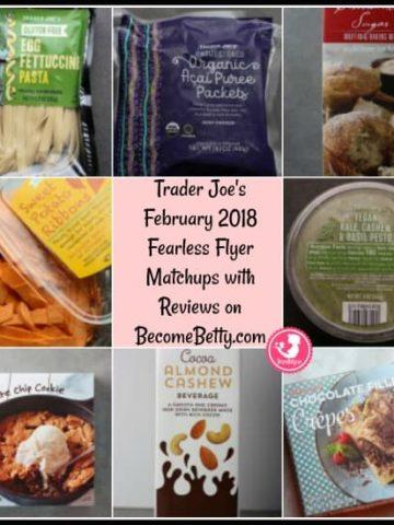 Trader Joe's February 2018 Fearless Flyer Matchups