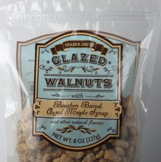 Trader Joe's Glazed Walnuts with Bourbon Barrel Aged Maple Syrup