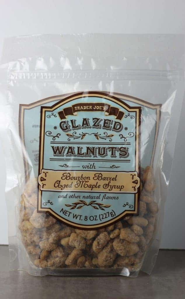 Trader Joe's Glazed Walnuts with Bourbon Barrel Aged Maple Syrup bag
