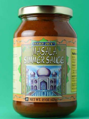 Trader Joe's Masala Simmer Sauce jar
