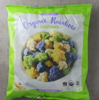 Trader Joe's Organic Rainbow Cauliflower bag