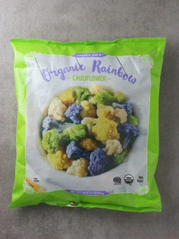 Trader Joe's Organic Rainbow Cauliflower bag
