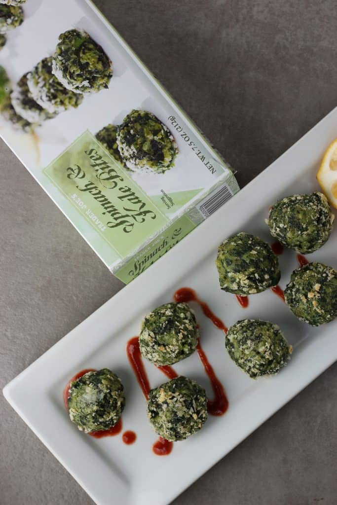 Trader Joe's Spinach and Kale Bites cooked.