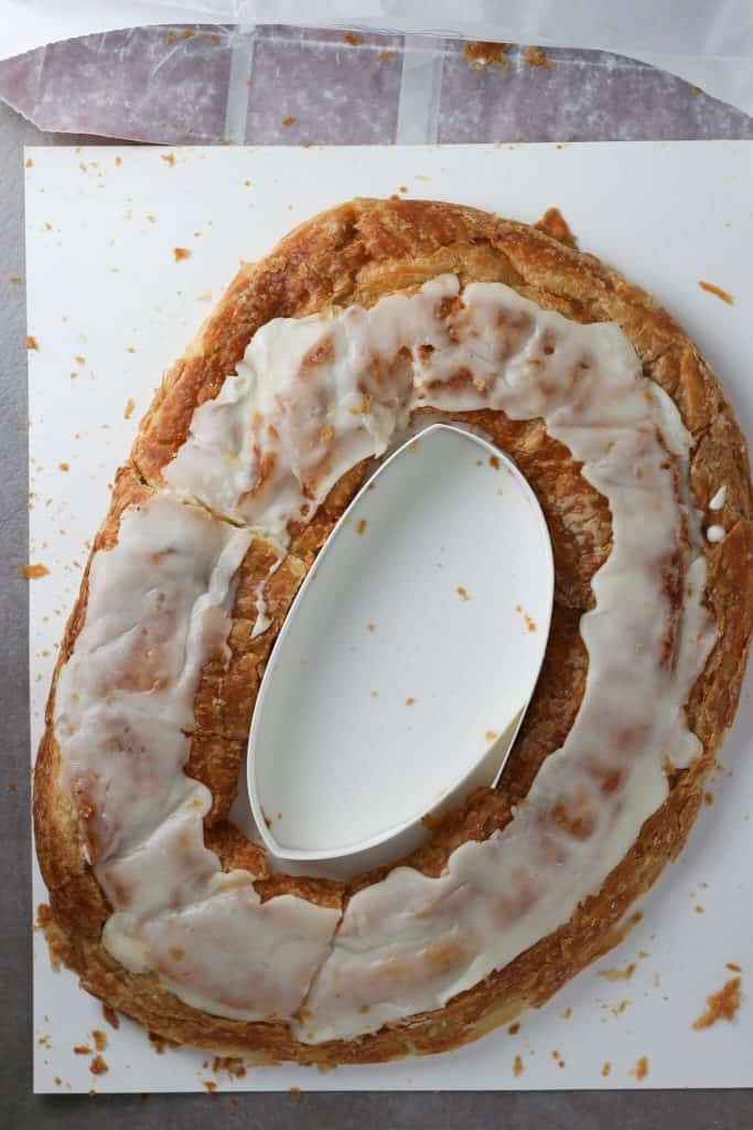 O&H Danish Bakery Pecan Kringle out of the bag