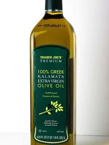 Trader Joe's 100% Greek Kalamata Extra Virgin Olive Oil bottle