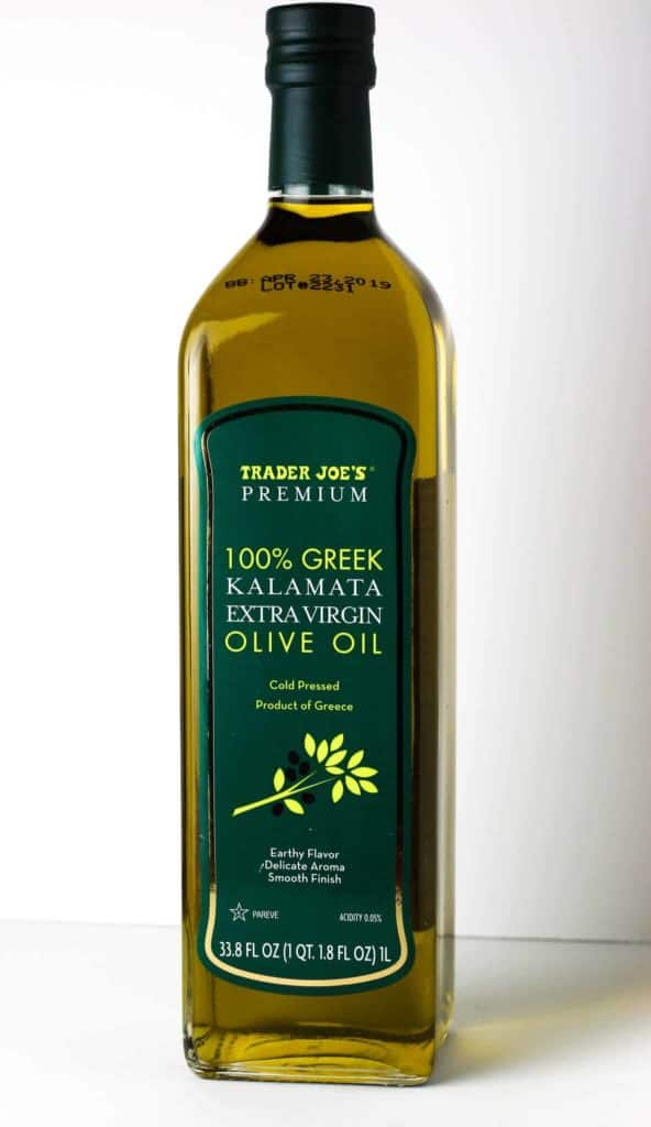 Trader Joe's 100% Greek Kalamata Extra Virgin Olive Oil bottle