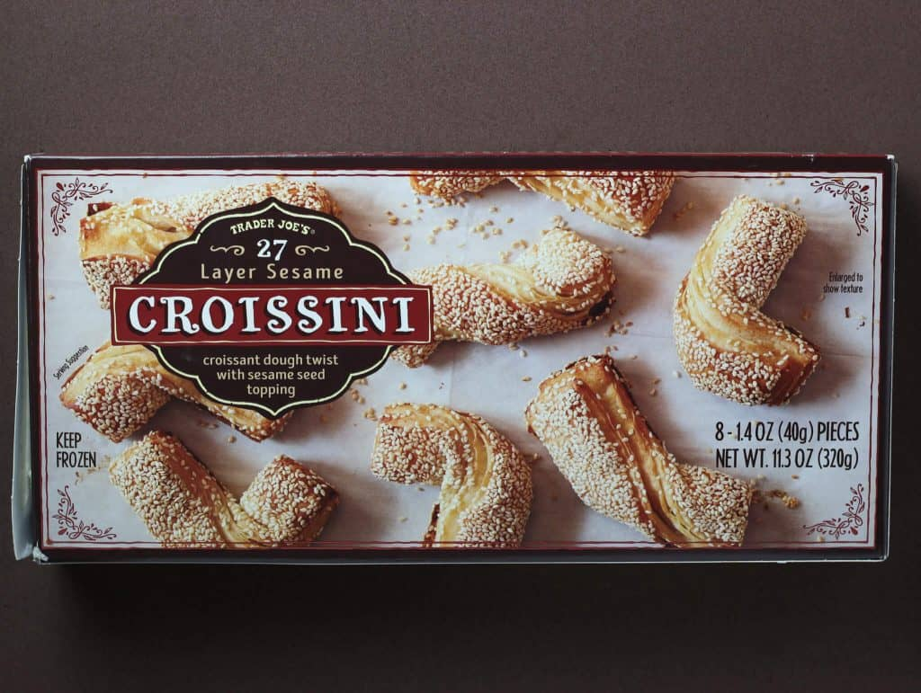 Trader Joe's 27 Layer Sesame Croissini box
