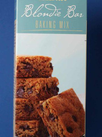 Trader Joe's Blondie Bar Baking Mix box