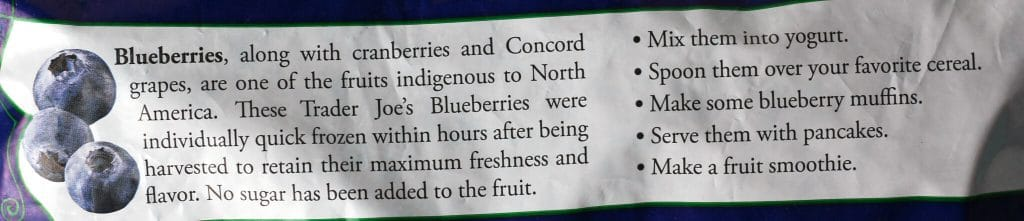 Trader Joe's Blueberries