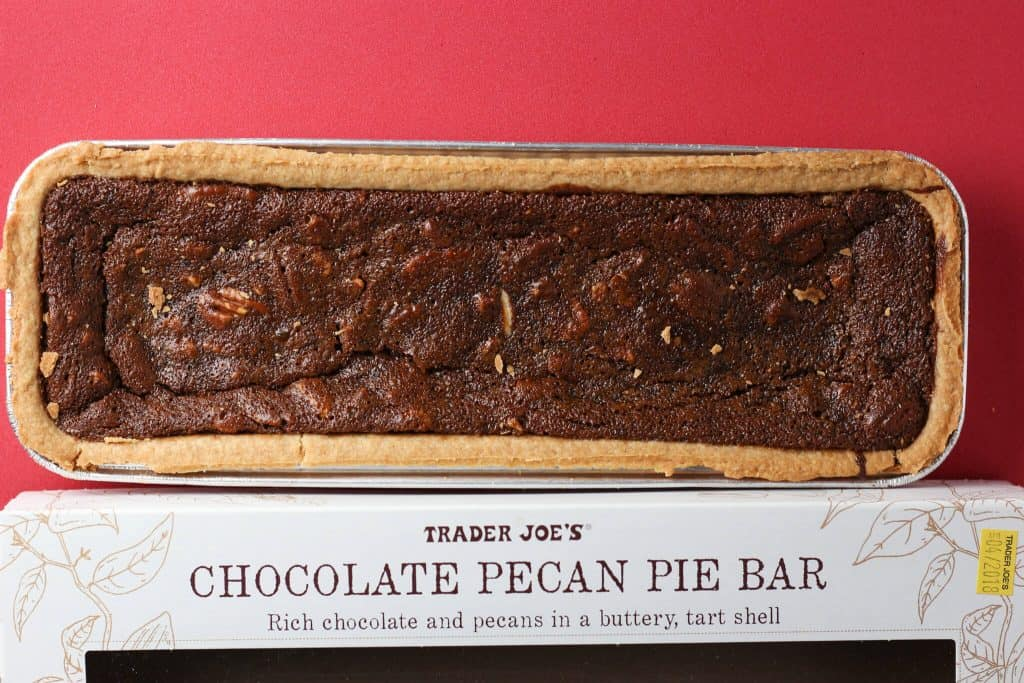 Trader Joe's Chocolate Pecan Pie Bar out of the box