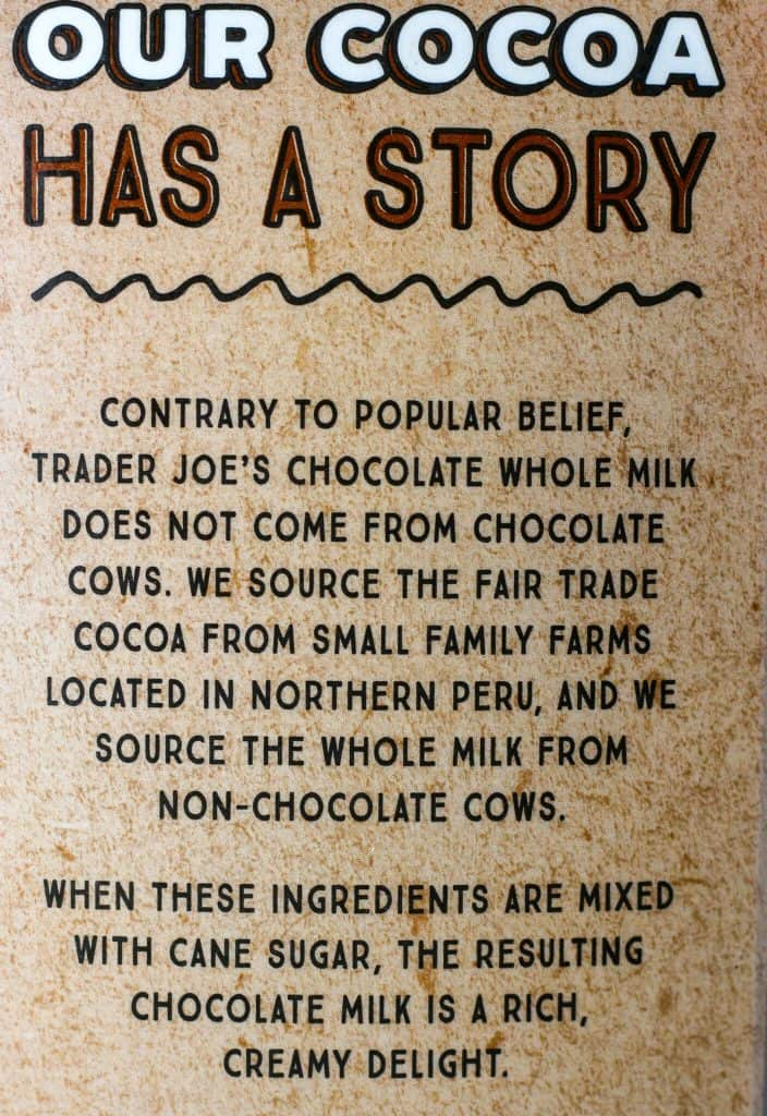 Trader Joe's Chocolate Whole Milk description