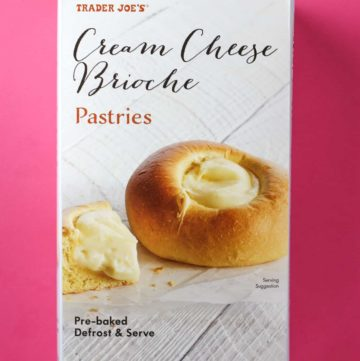 Trader Joe's Cream Cheese Brioche Pastries box