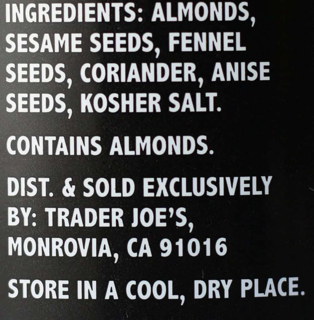 Trader Joe's Dukkah ingredients