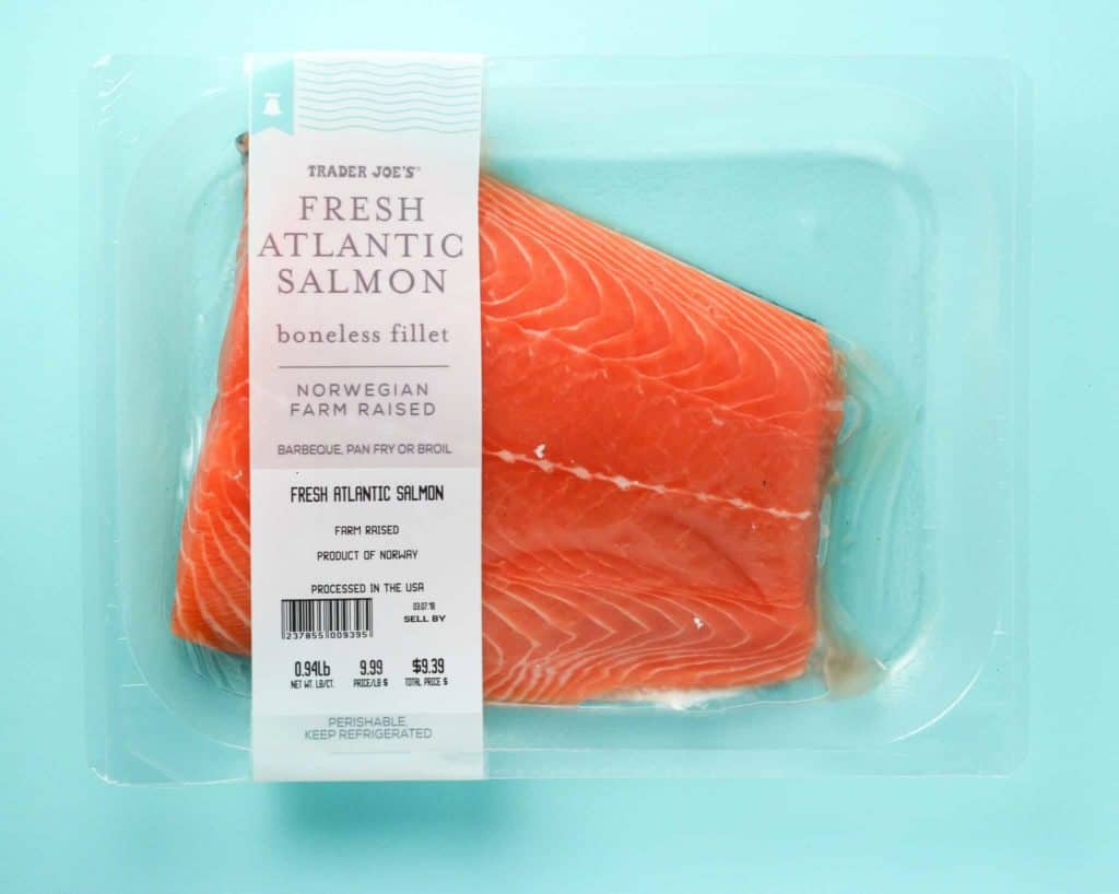 Trader Joe's Fresh Atlantic Salmon package
