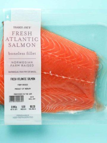 Trader Joe's Fresh Atlantic Salmon package