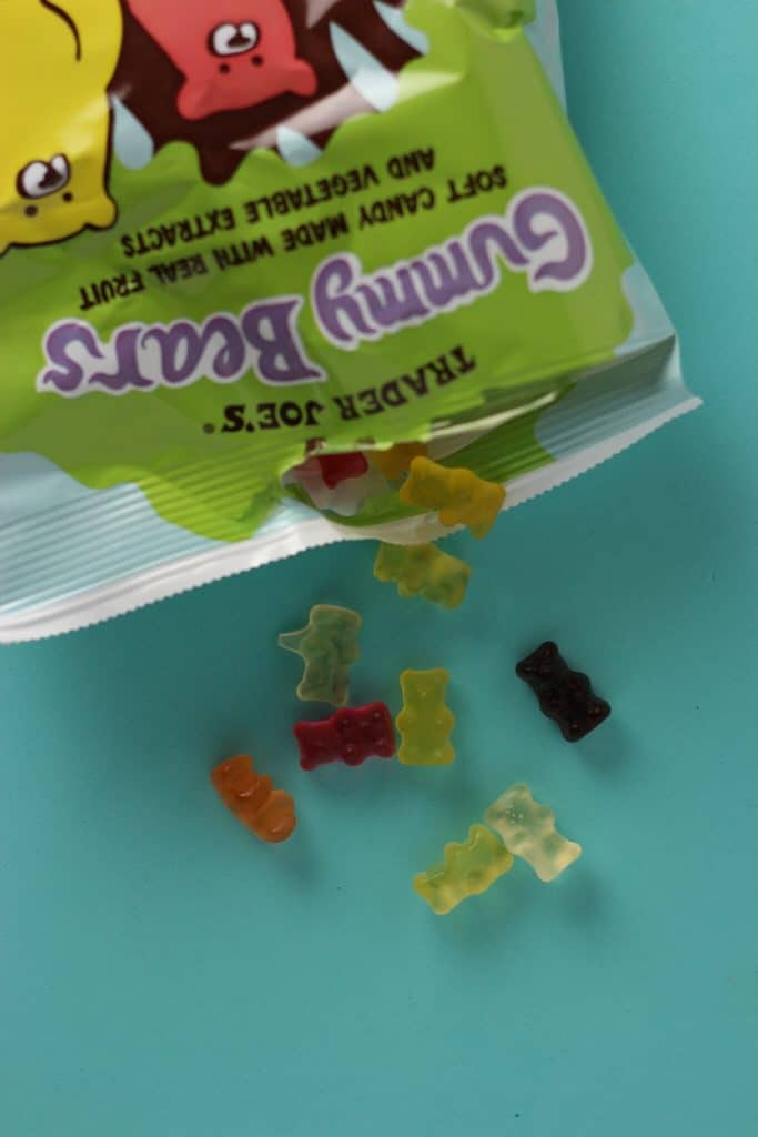 Trader Joe's Gummy Bears out of the bag