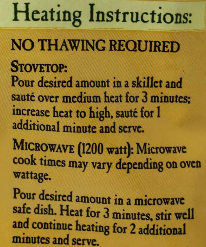 Trader Joe's Mushroom Medley cooking instructions