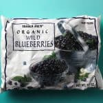 An unopened bag of Trader Joe's Organic Wild Blueberries