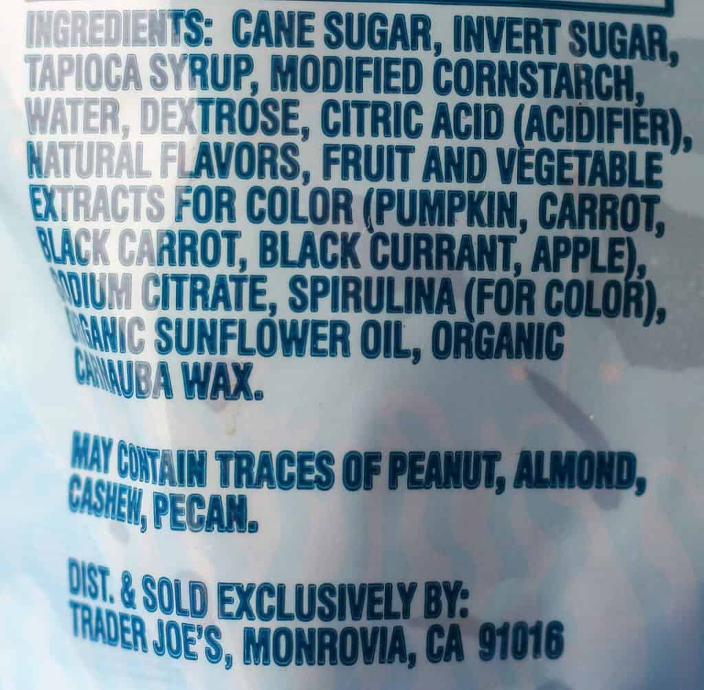 Trader Joe's Scandinavian Swimmers ingredients