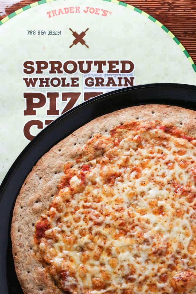 Trader Joe's Sprouted Whole Grain Pizza Crust finished