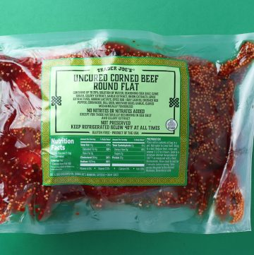 Trader Joe's Uncured Corned Beef Round Flat