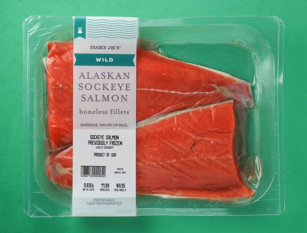 Trader joe 39 s wild alaskan sockeye salmon for Trader joes fish