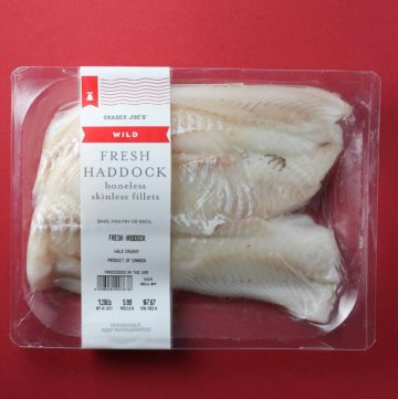 Trader Joe's Wild Fresh Haddock package
