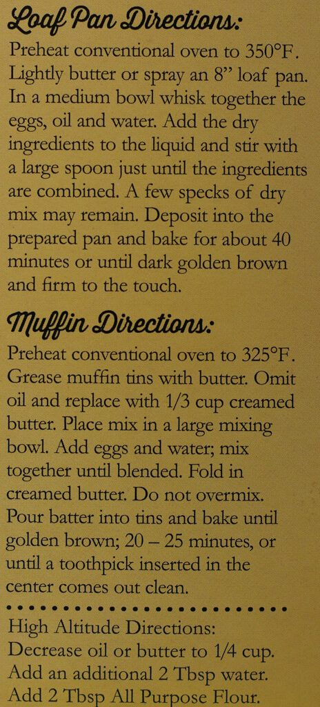 Trader Joe's Banana Bread Mix recipe for banana bread
